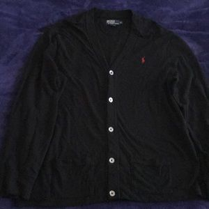 Black Ralph Lauren cotton cardigan